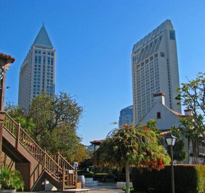 Wiżowce budynków w californii san diego