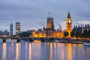 Widok na most oraz Big Ben, Londyn