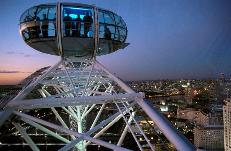 Widok z London Eye