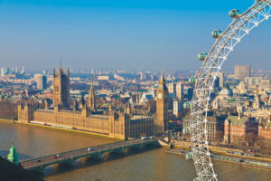 Ujęcie London Eye oraz Big Benu