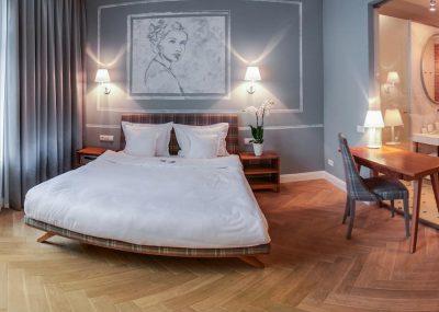 Sypialnia w Apartamentach Bracka 6 w Krakowie