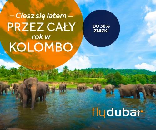 baner zachęcający do wyjazdu do Kolombo