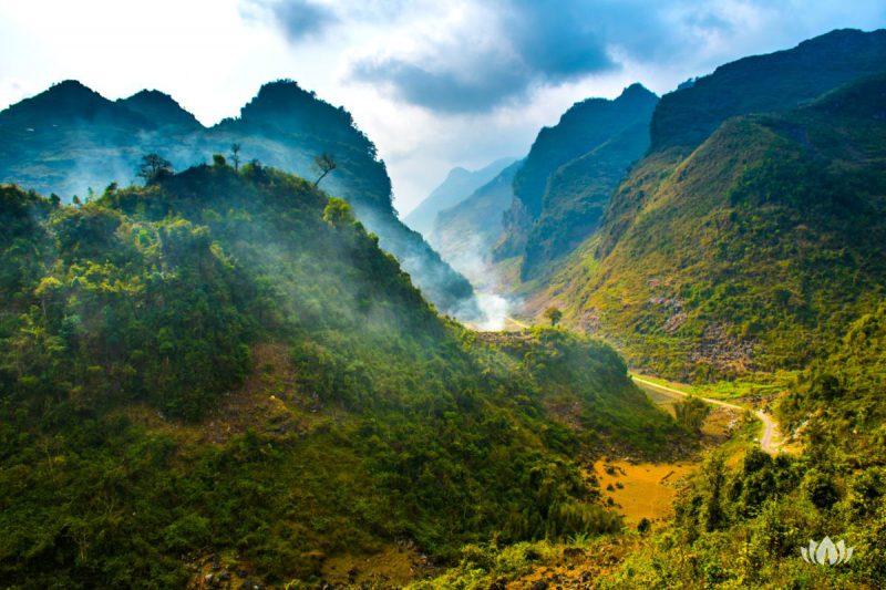 Ha Giang, północna pętla, północny wietnam, z polami ryżowymi, pięknymi krajobrazami