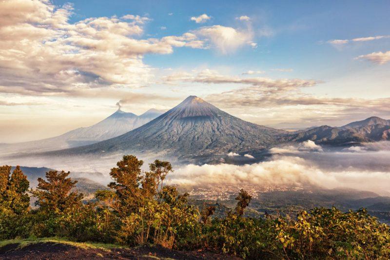Aktywny wulkan Fuego