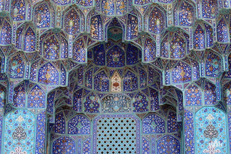 Wnętrze meczetu w Iranie