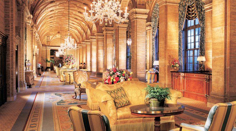 luksusowe wnętrze w złocie